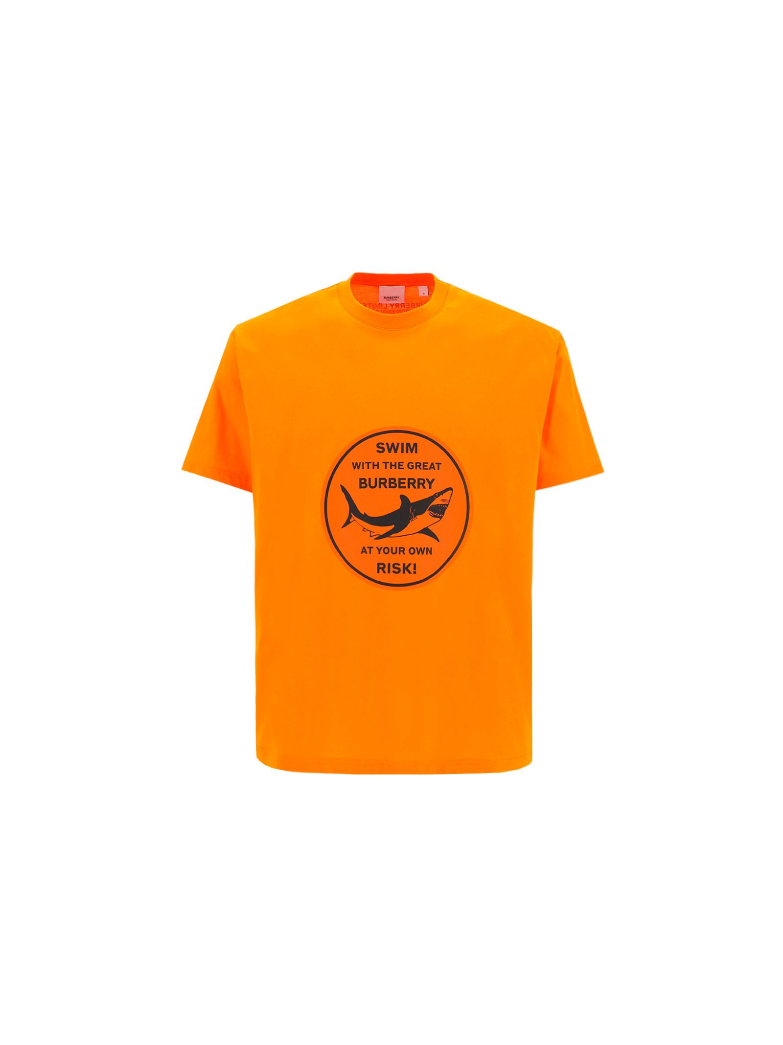 Burberry Cottons BURBERRY MEN'S ORANGE OTHER MATERIALS T-SHIRT