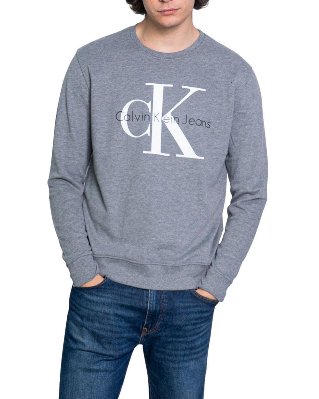 Calvin Klein Jeans Est.1978 CALVIN KLEIN JEANS MEN'S GREY COTTON SWEATSHIRT
