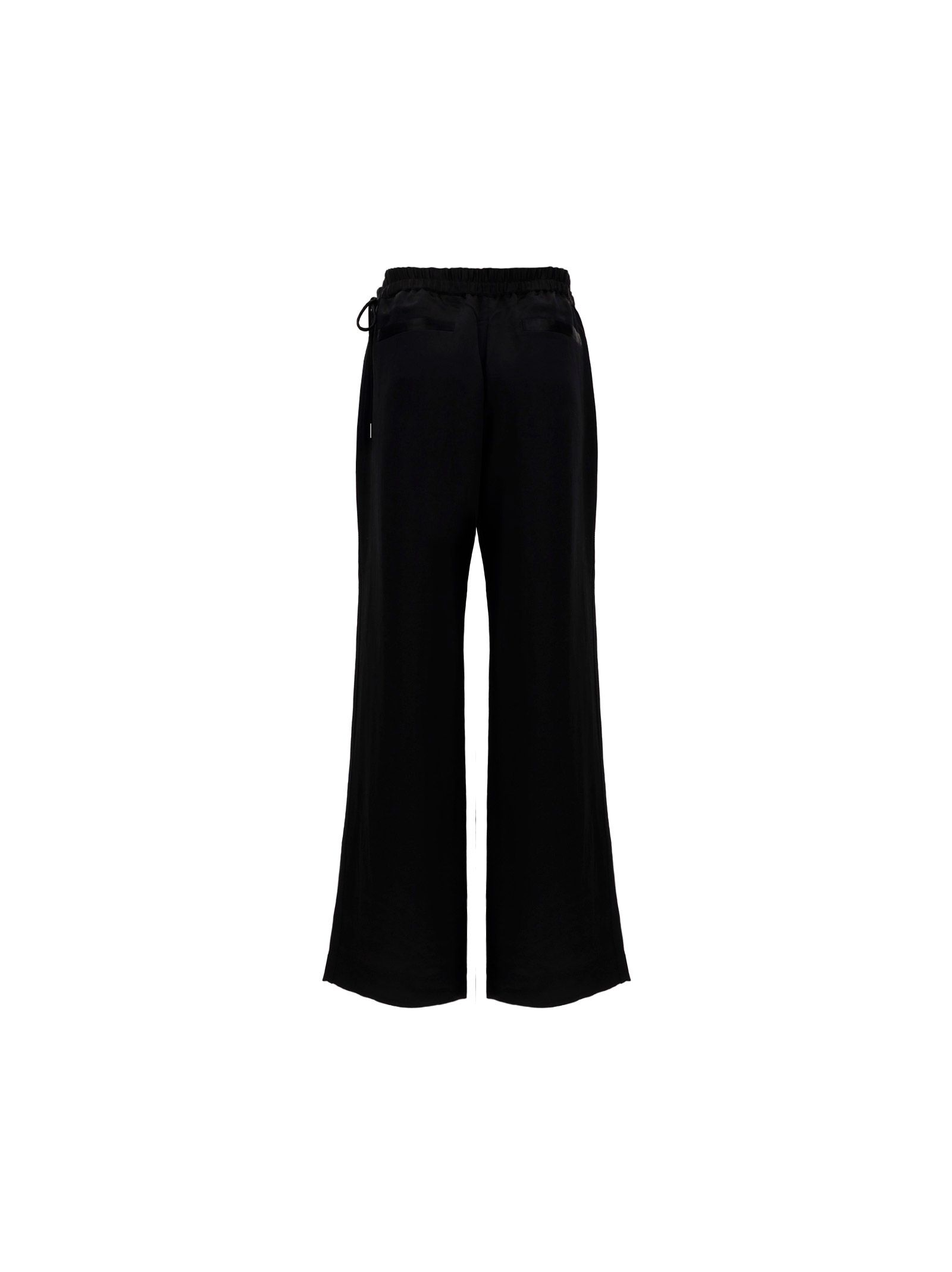 ACNE STUDIOS Cropped pants ACNE STUDIOS WOMEN'S BLACK OTHER MATERIALS PANTS
