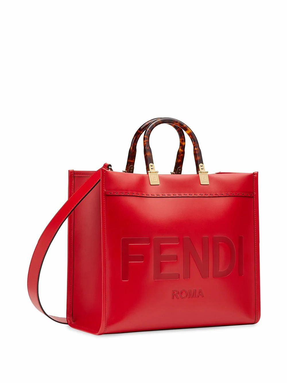 FENDI Leathers FENDI WOMEN'S RED LEATHER HANDBAG