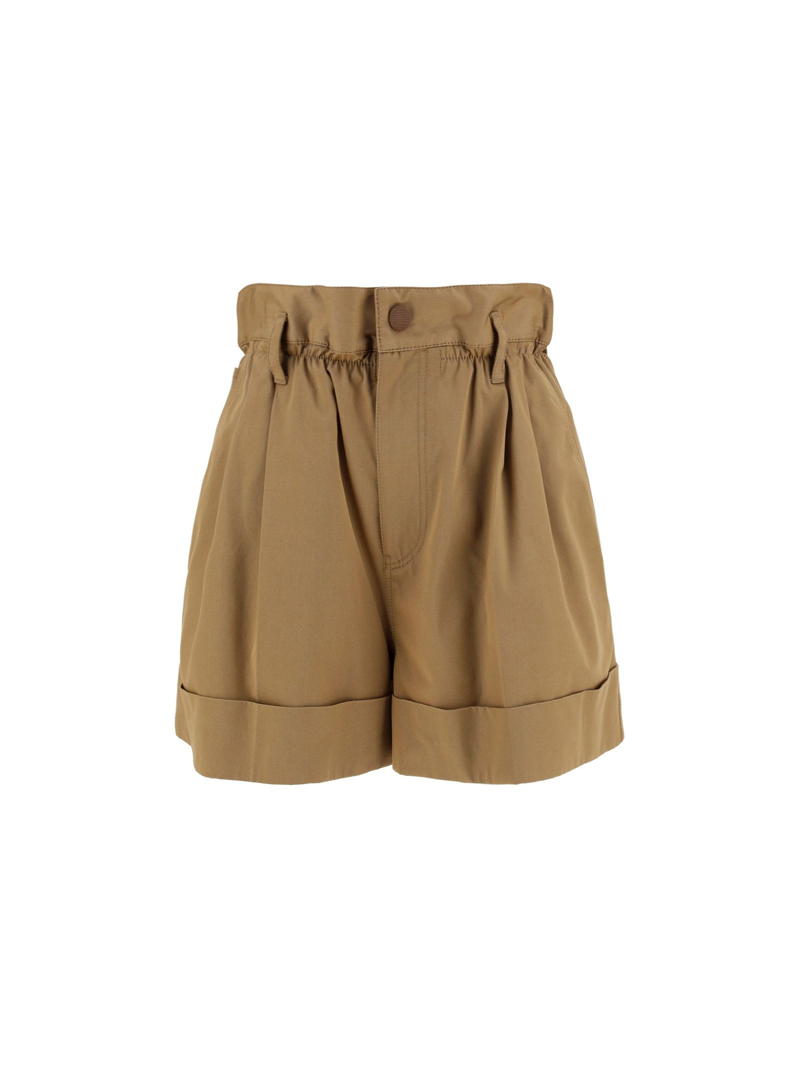 Moncler MONCLER WOMEN'S BROWN OTHER MATERIALS SHORTS