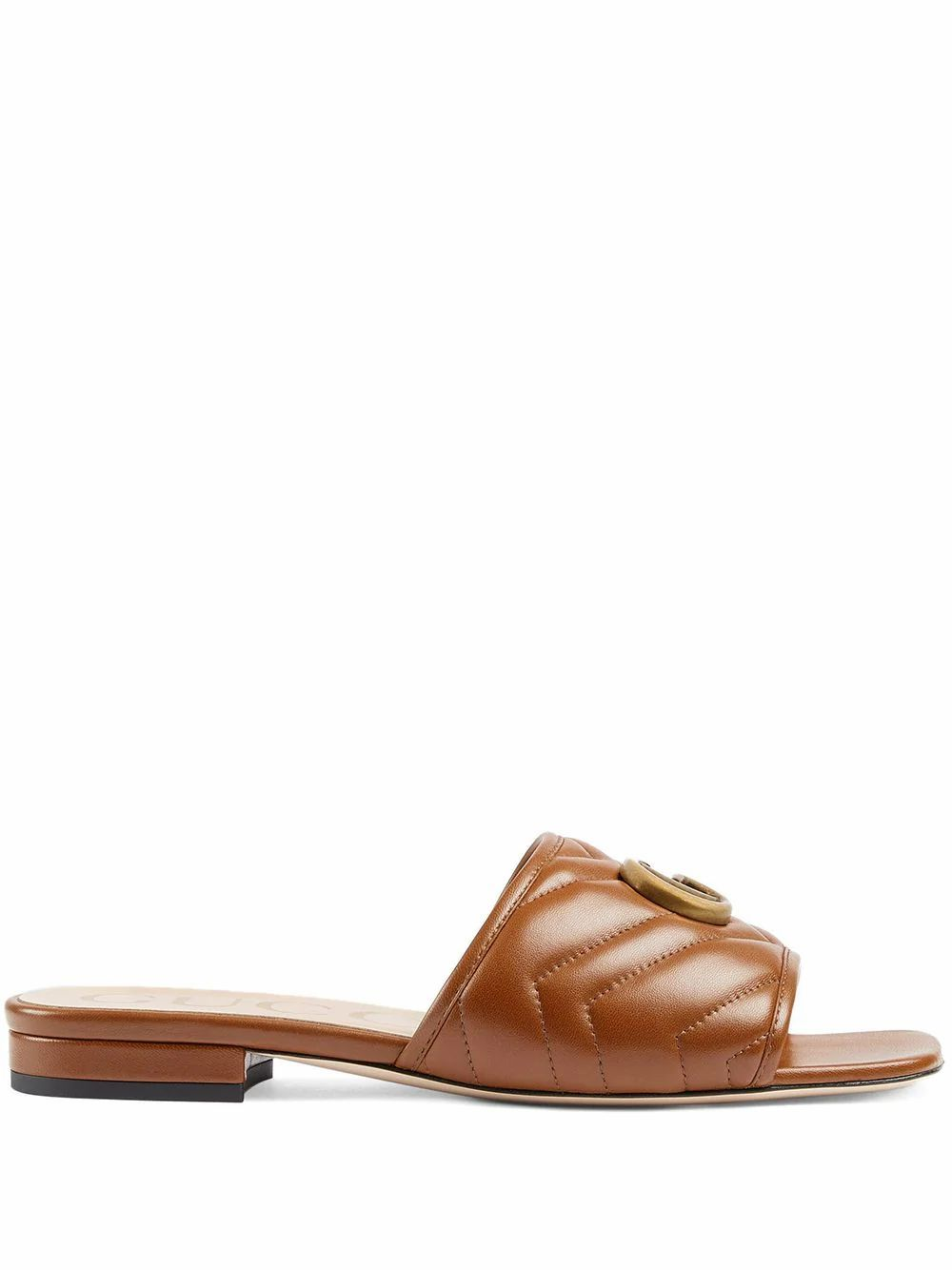 Gucci Leathers GUCCI WOMEN'S BROWN LEATHER SANDALS