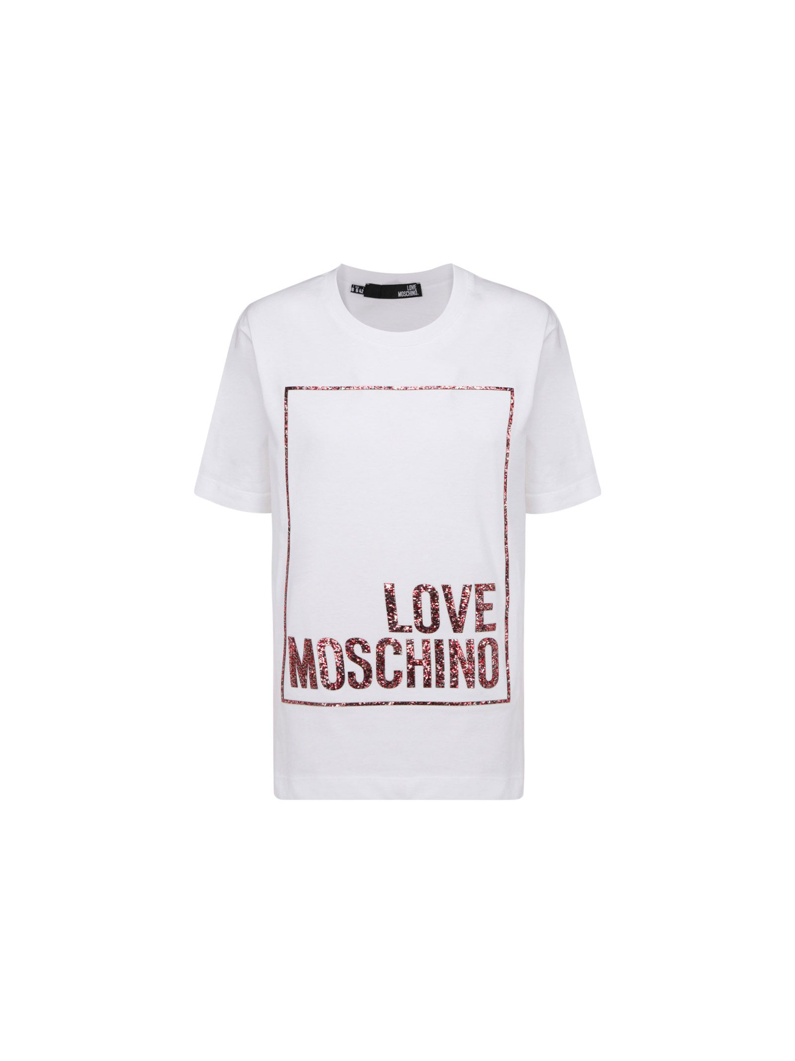 Love Moschino Cottons LOVE MOSCHINO WOMEN'S WHITE OTHER MATERIALS T-SHIRT