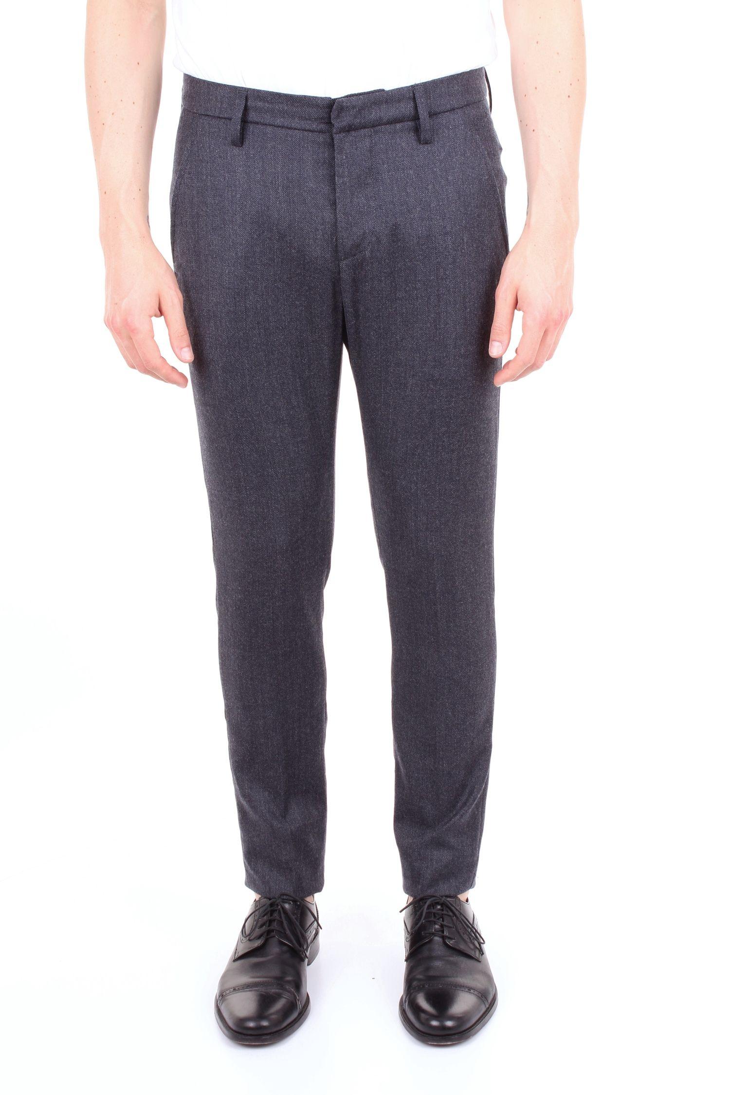 Dondup Blue Wool Pants