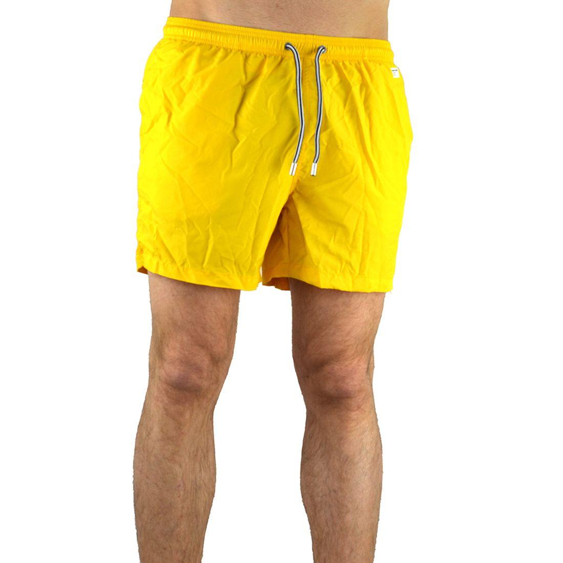 Mc2 Saint Barth Men's Yellow Polyester Trunks