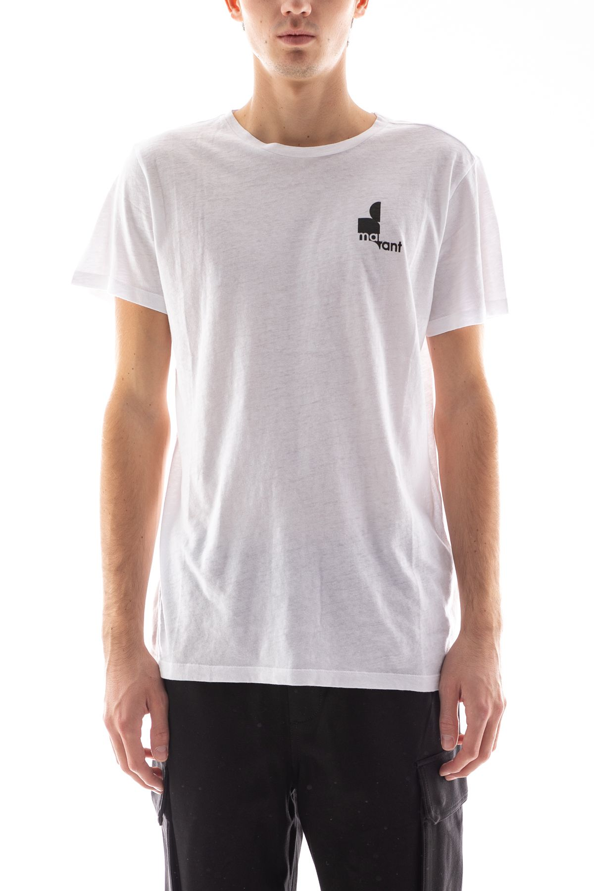 ISABEL MARANT ISABEL MARANT MEN'S WHITE COTTON T-SHIRT