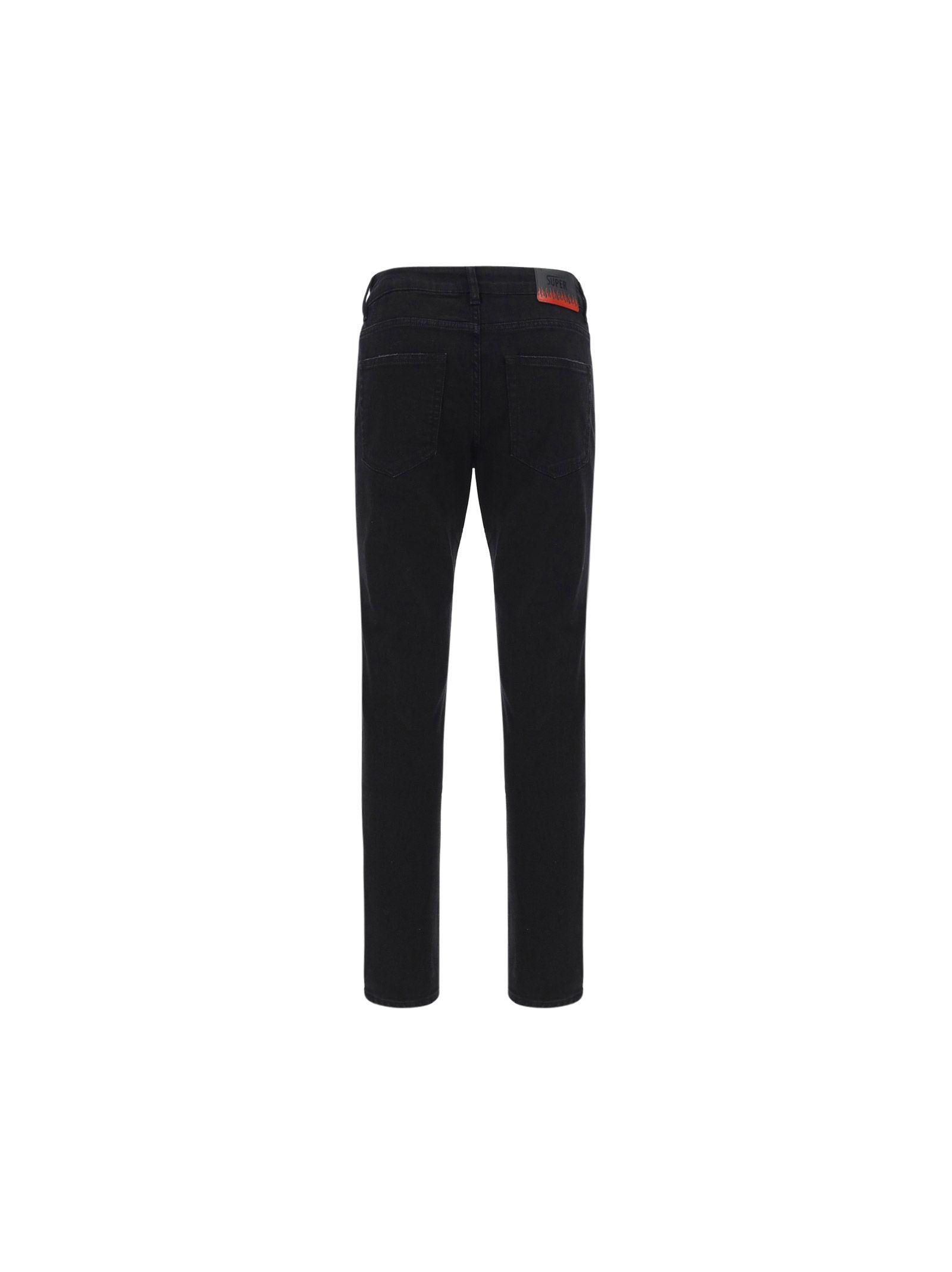 VISION OF SUPER Jeans VISION OF SUPER MEN'S BLACK OTHER MATERIALS JEANS