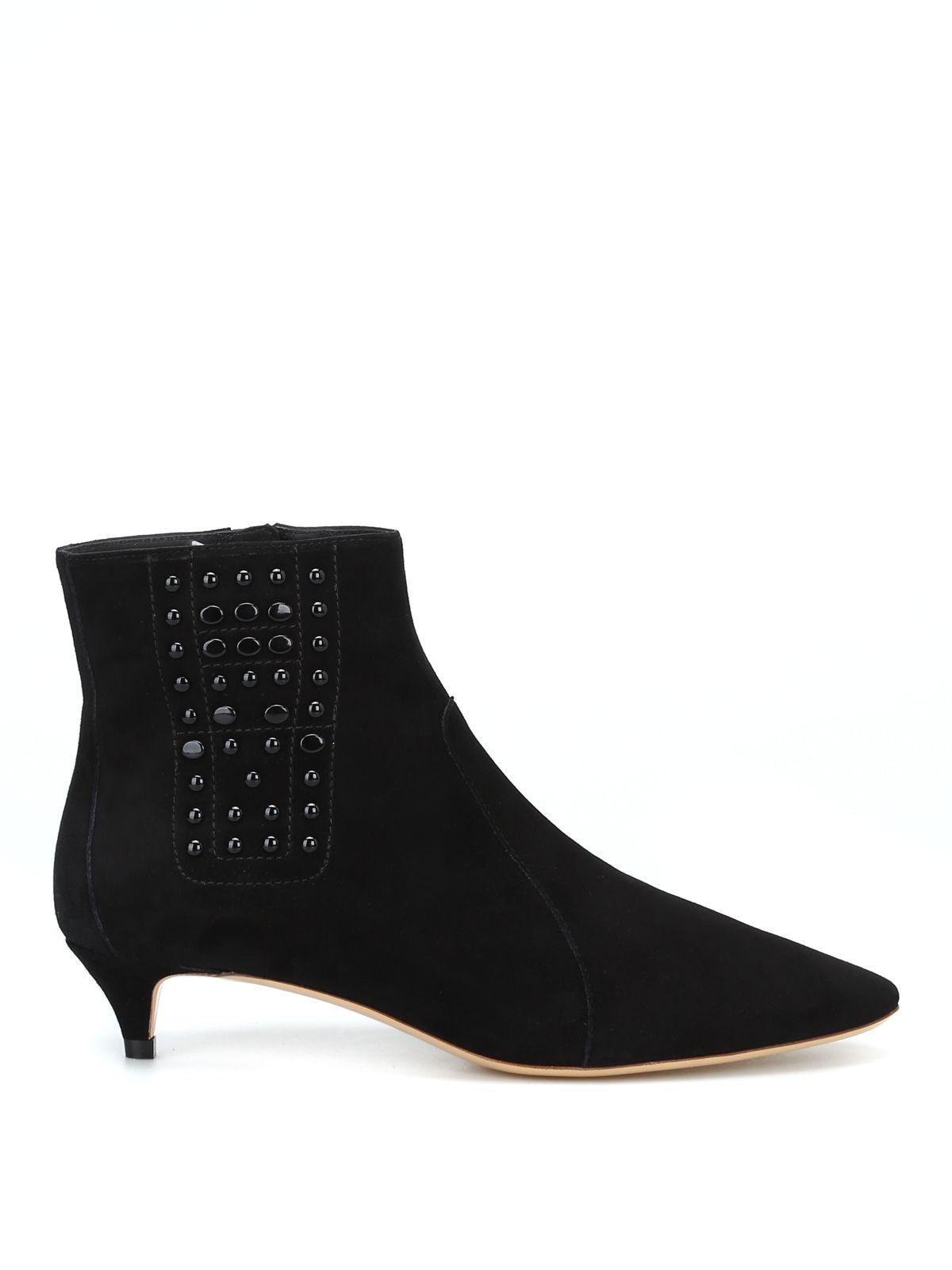 Tod's Women's Suede Heel Ankle Boots Booties In Black