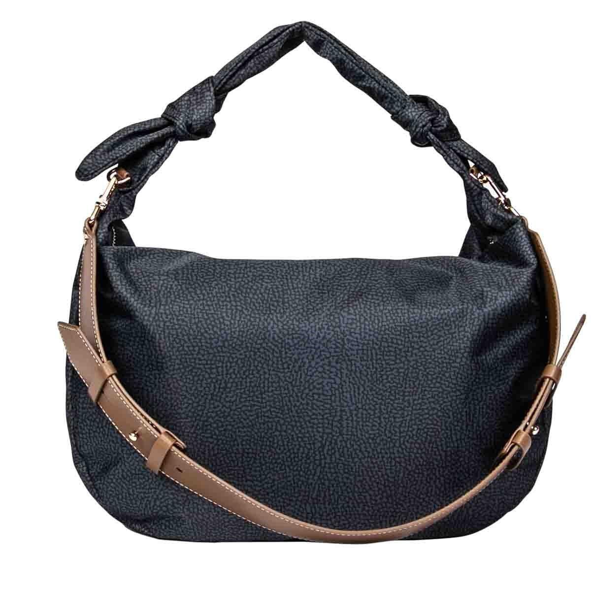 Borbonese Shoulder bags BORBONESE WOMEN'S BLACK POLYESTER SHOULDER BAG
