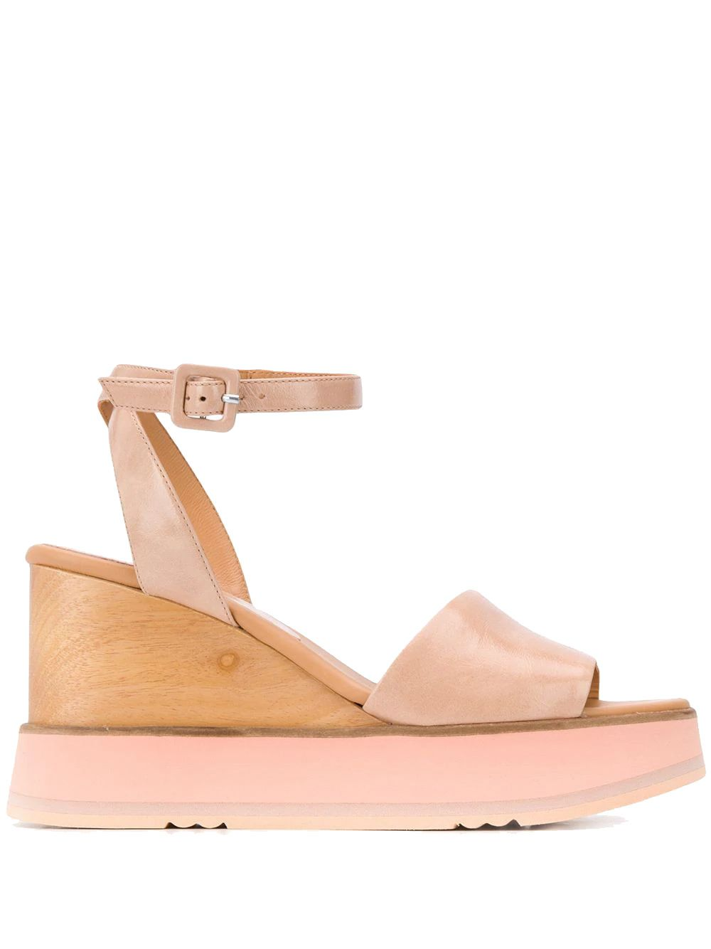 Paloma Barceló PINK LEATHER SANDALS