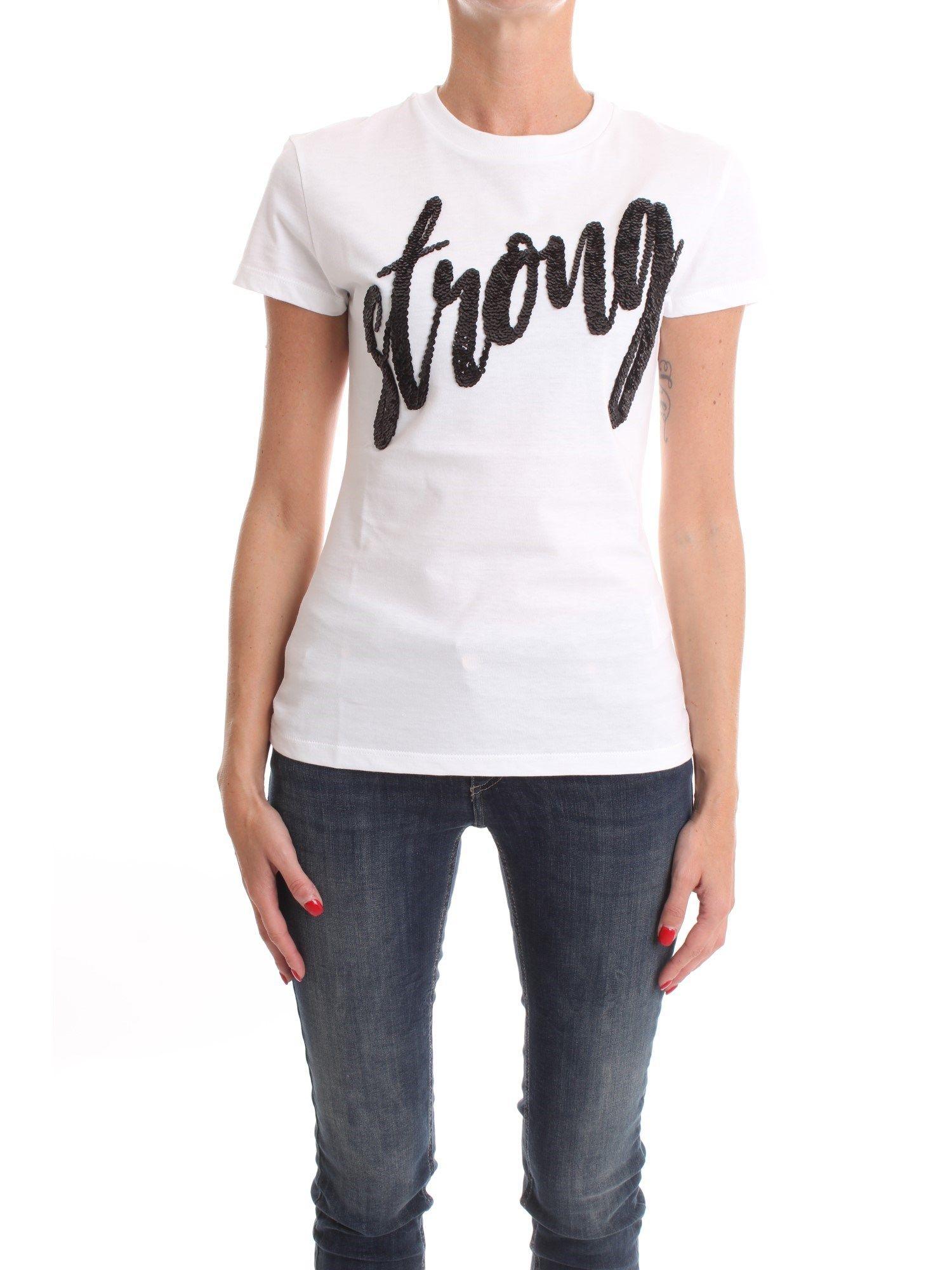 Dondup DONDUP WOMEN'S WHITE T-SHIRT