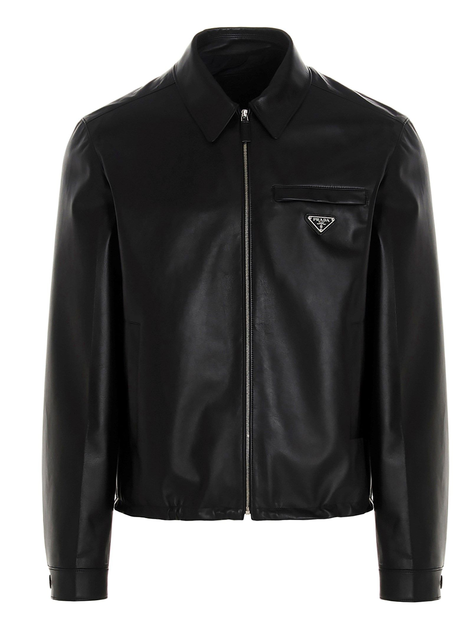 Prada PRADA MEN'S BLACK OTHER MATERIALS OUTERWEAR JACKET
