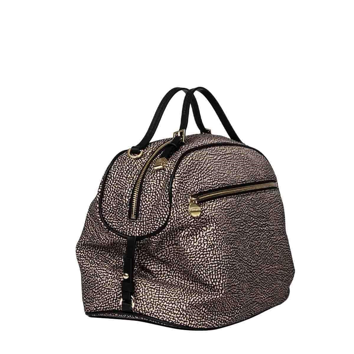BORBONESE Handbags BORBONESE WOMEN'S BROWN POLYESTER HANDBAG