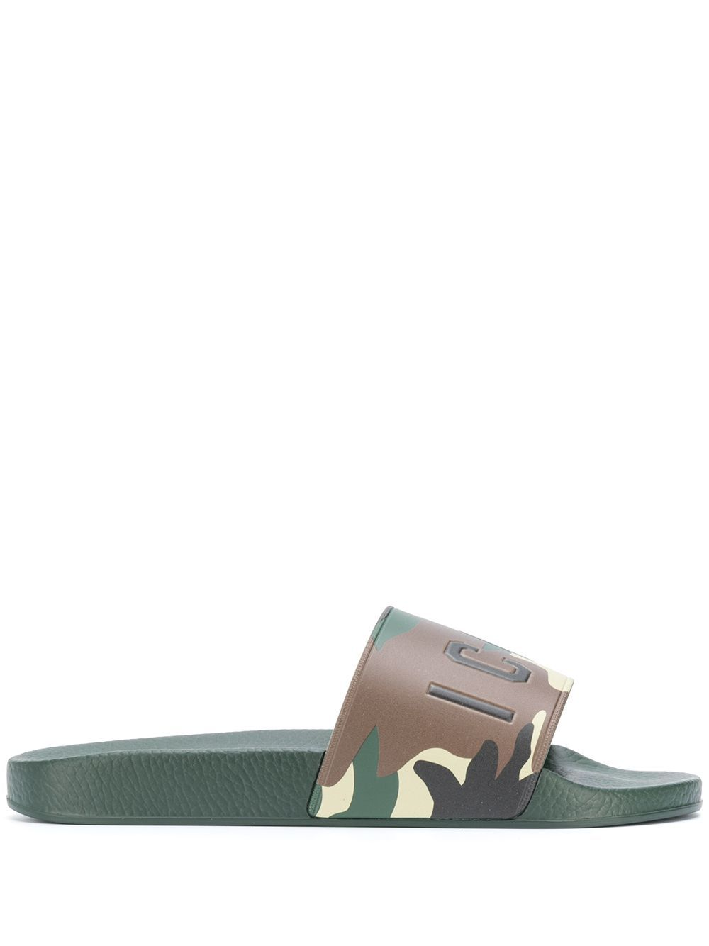 Dsquared2 Sandals DSQUARED2 MEN'S GREEN RUBBER SANDALS