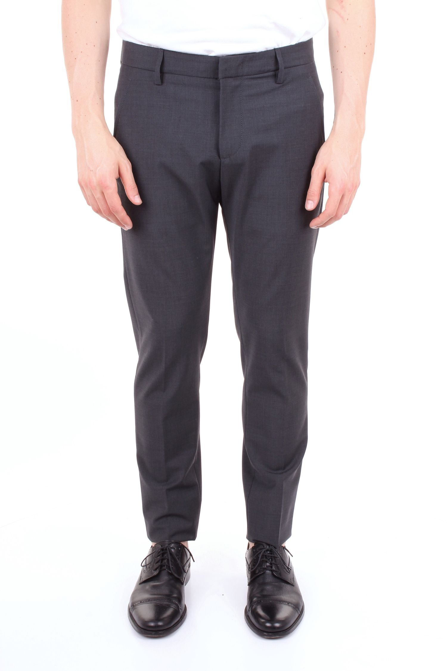 Dondup Grey Polyester Pants