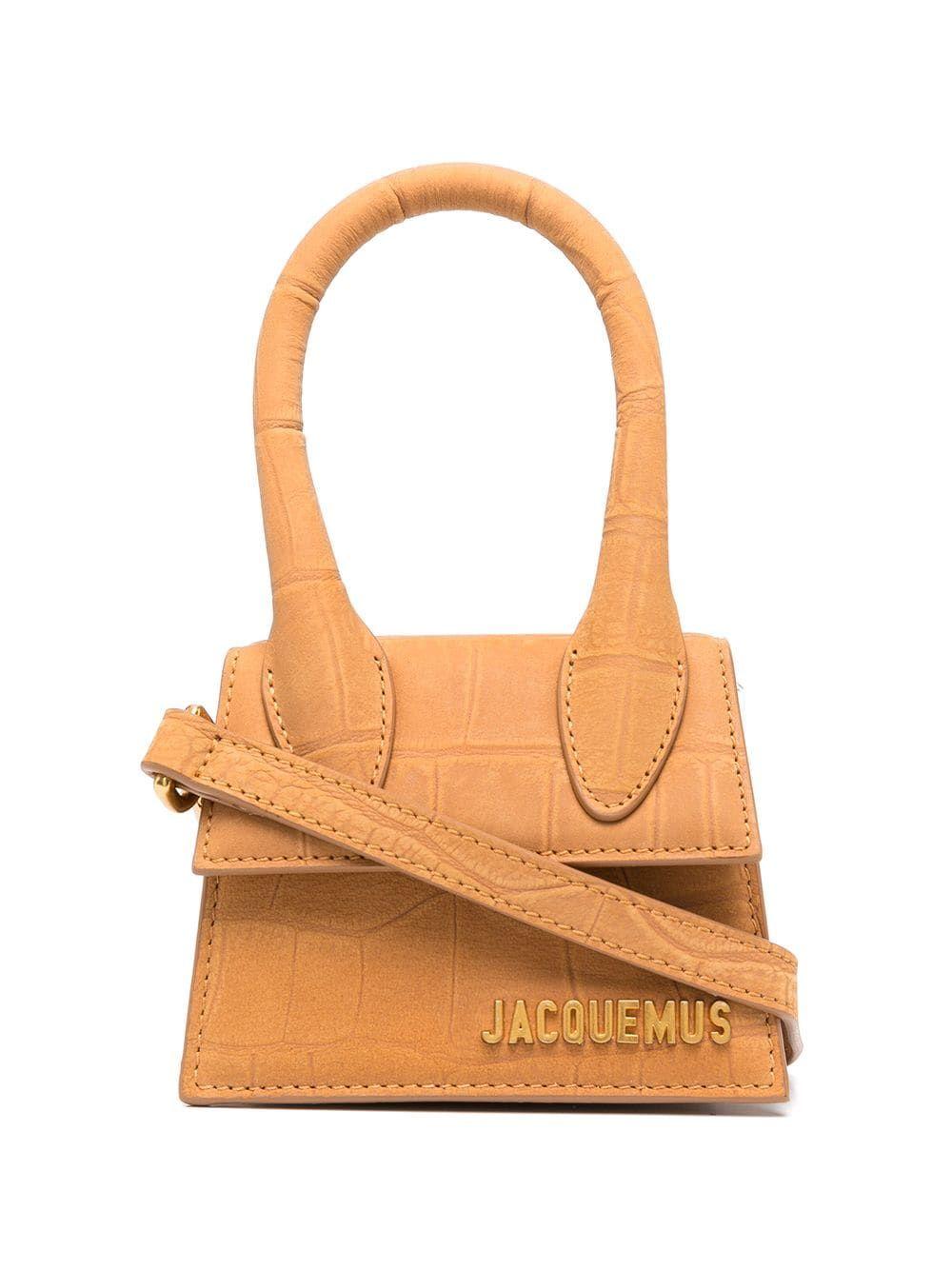 Jacquemus JACQUEMUS WOMEN'S BROWN LEATHER HANDBAG