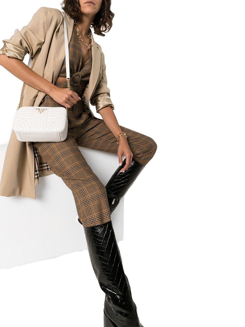 PRADA Leathers PRADA WOMEN'S WHITE LEATHER SHOULDER BAG