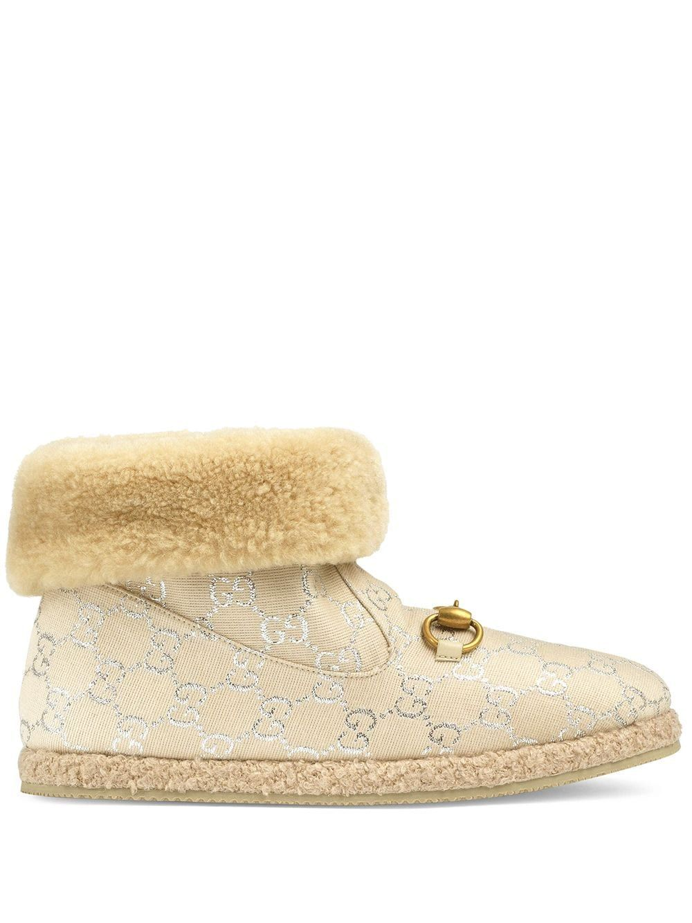 GUCCI GUCCI WOMEN'S WHITE WOOL ANKLE BOOTS