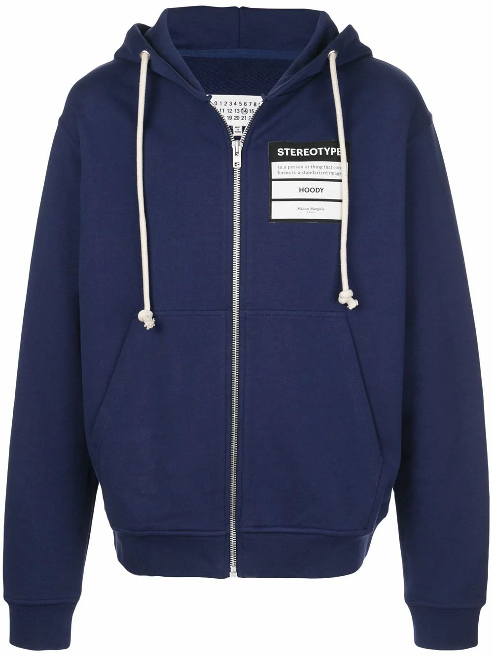 Maison Margiela MAISON MARGIELA MEN'S BLUE COTTON SWEATSHIRT