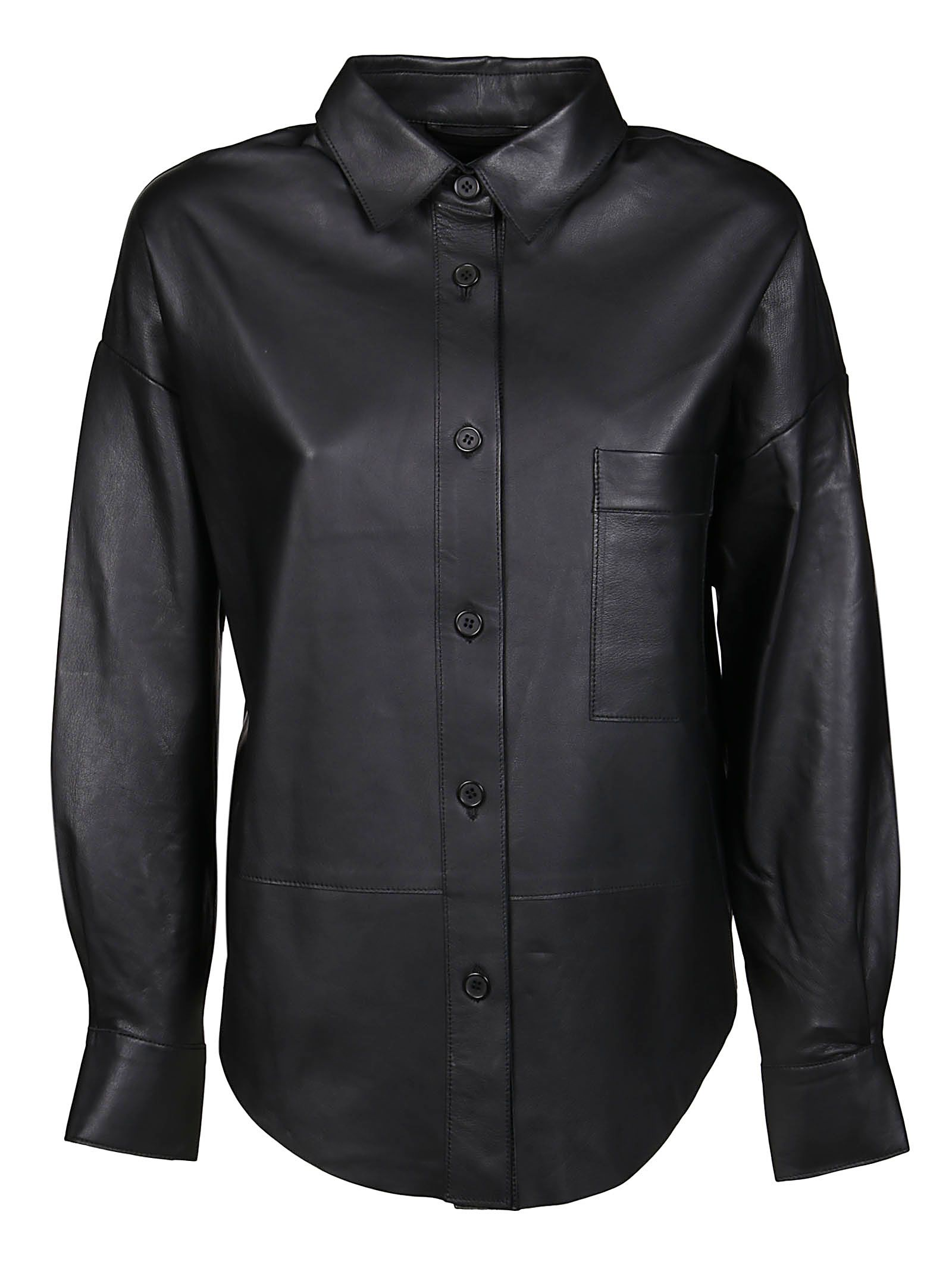 Sword 6.6.44 Shirts S.W.O.R.D 6.6.44 WOMEN'S BLACK OTHER MATERIALS OUTERWEAR JACKET