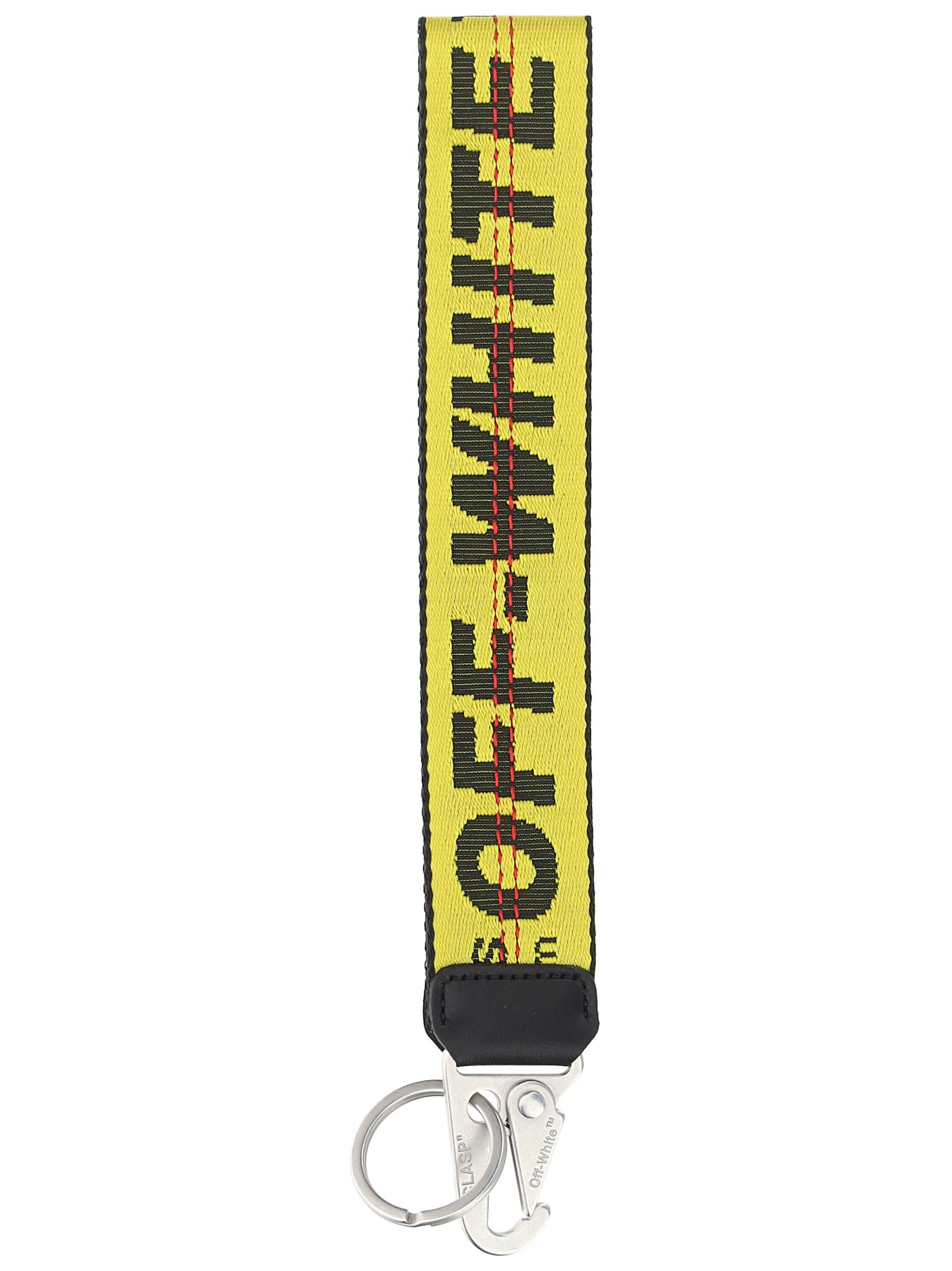 Off-White Accessories OFF-WHITE MEN'S YELLOW OTHER MATERIALS KEY CHAIN