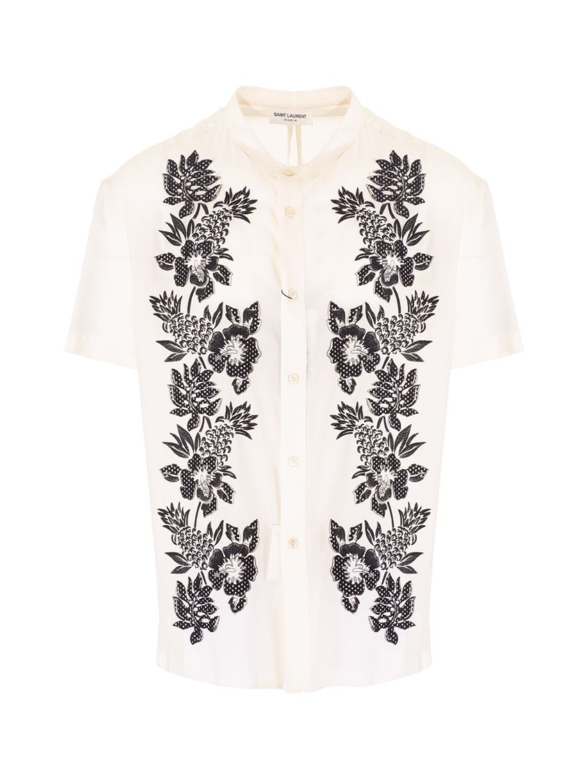 Saint Laurent SAINT LAURENT MEN'S WHITE COTTON SHIRT