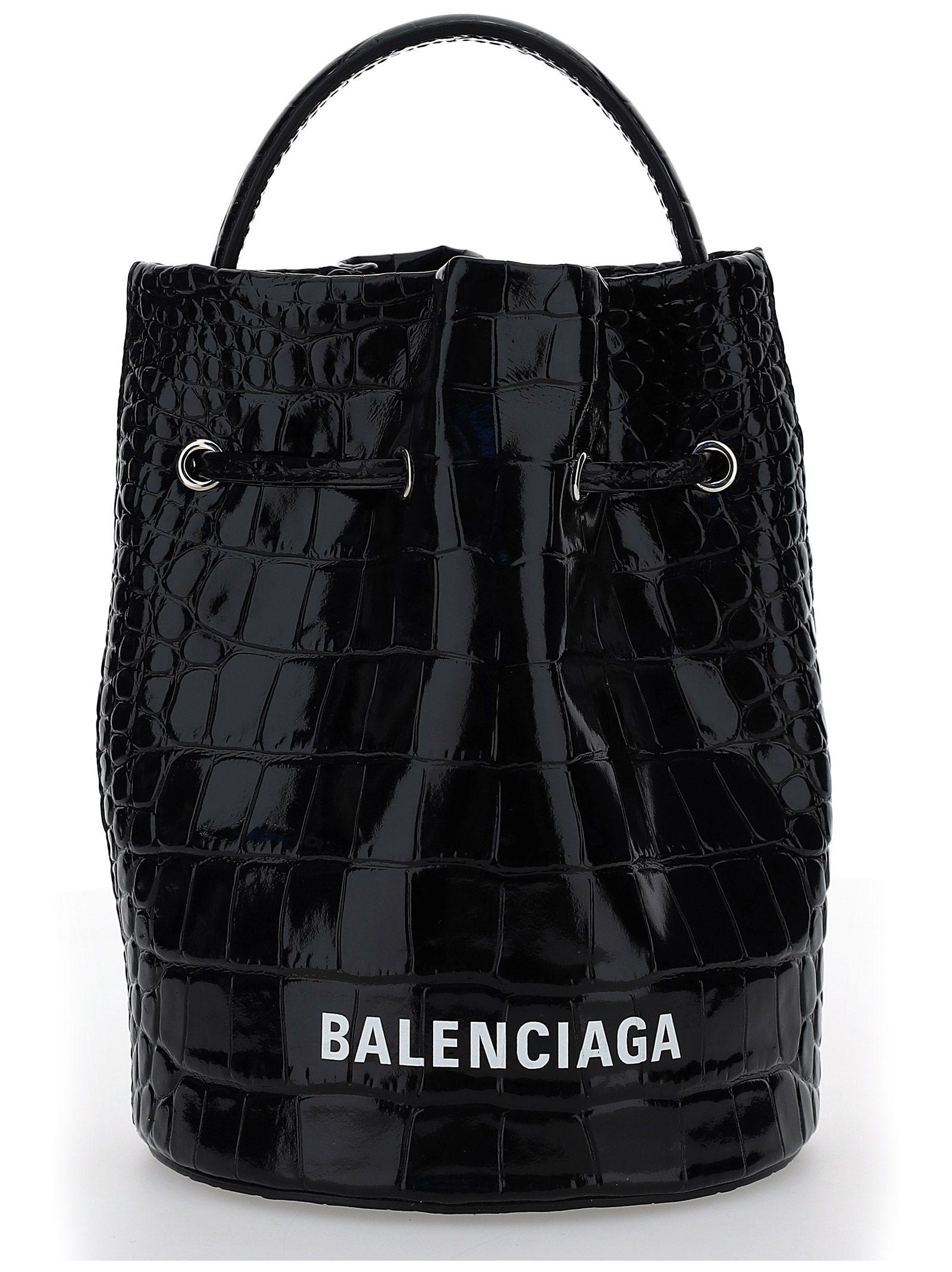 Balenciaga BALENCIAGA WOMEN'S BLACK OTHER MATERIALS HANDBAG