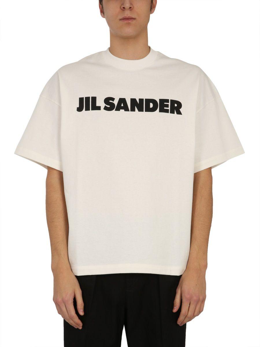 Jil Sander JIL SANDER MEN'S WHITE OTHER MATERIALS T-SHIRT