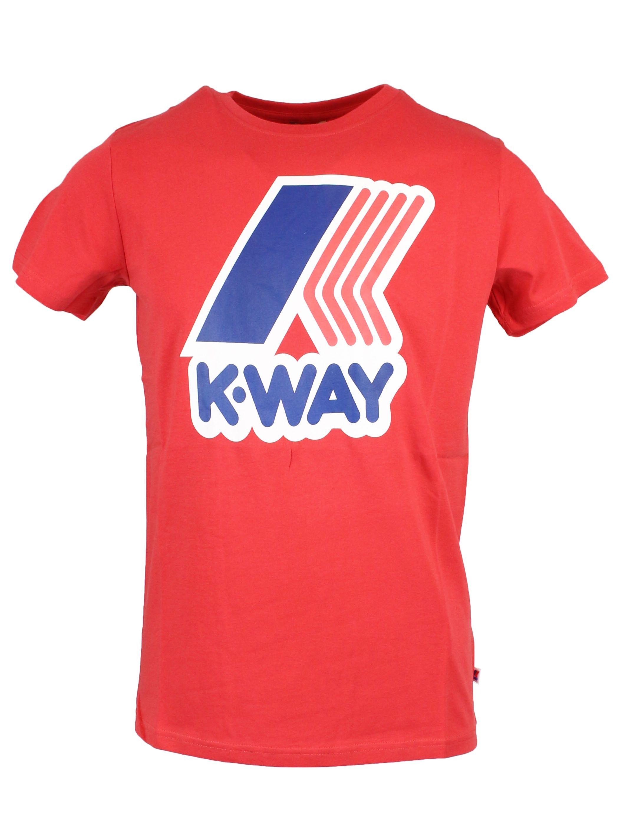 K-way Men's Red Cotton T-shirt