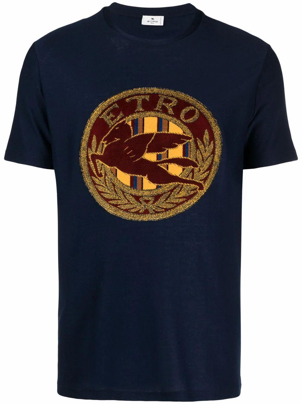 Etro Clothing ETRO MEN'S BLUE COTTON T-SHIRT
