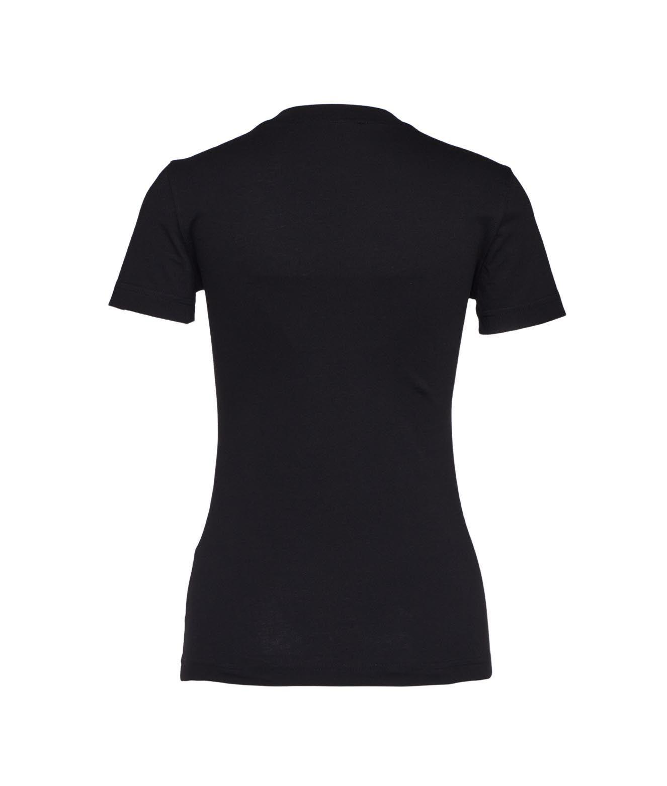 VERSACE T-shirts VERSACE WOMEN'S BLACK OTHER MATERIALS T-SHIRT