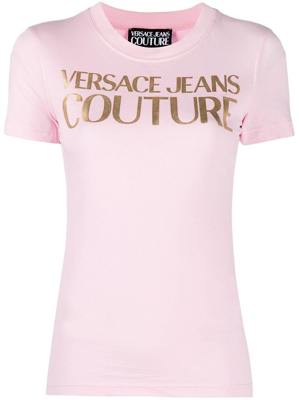 Versace Jeans VERSACE JEANS WOMEN'S PINK COTTON T-SHIRT