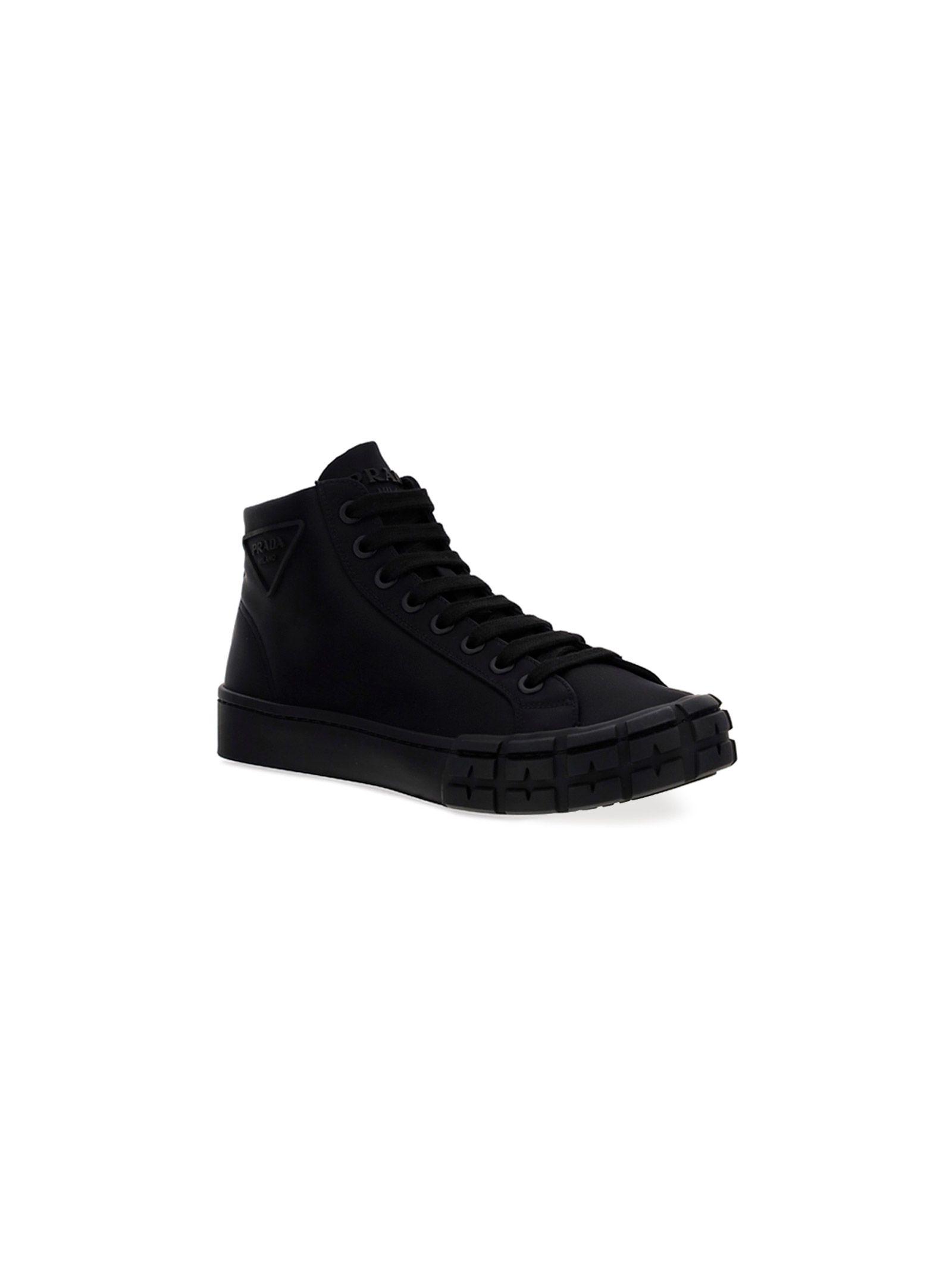PRADA Sneakers PRADA MEN'S BLACK OTHER MATERIALS SNEAKERS