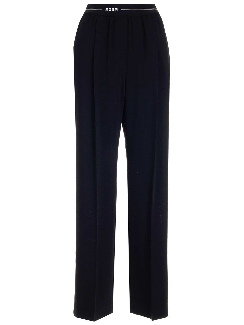 Msgm MSGM WOMEN'S BLACK OTHER MATERIALS PANTS