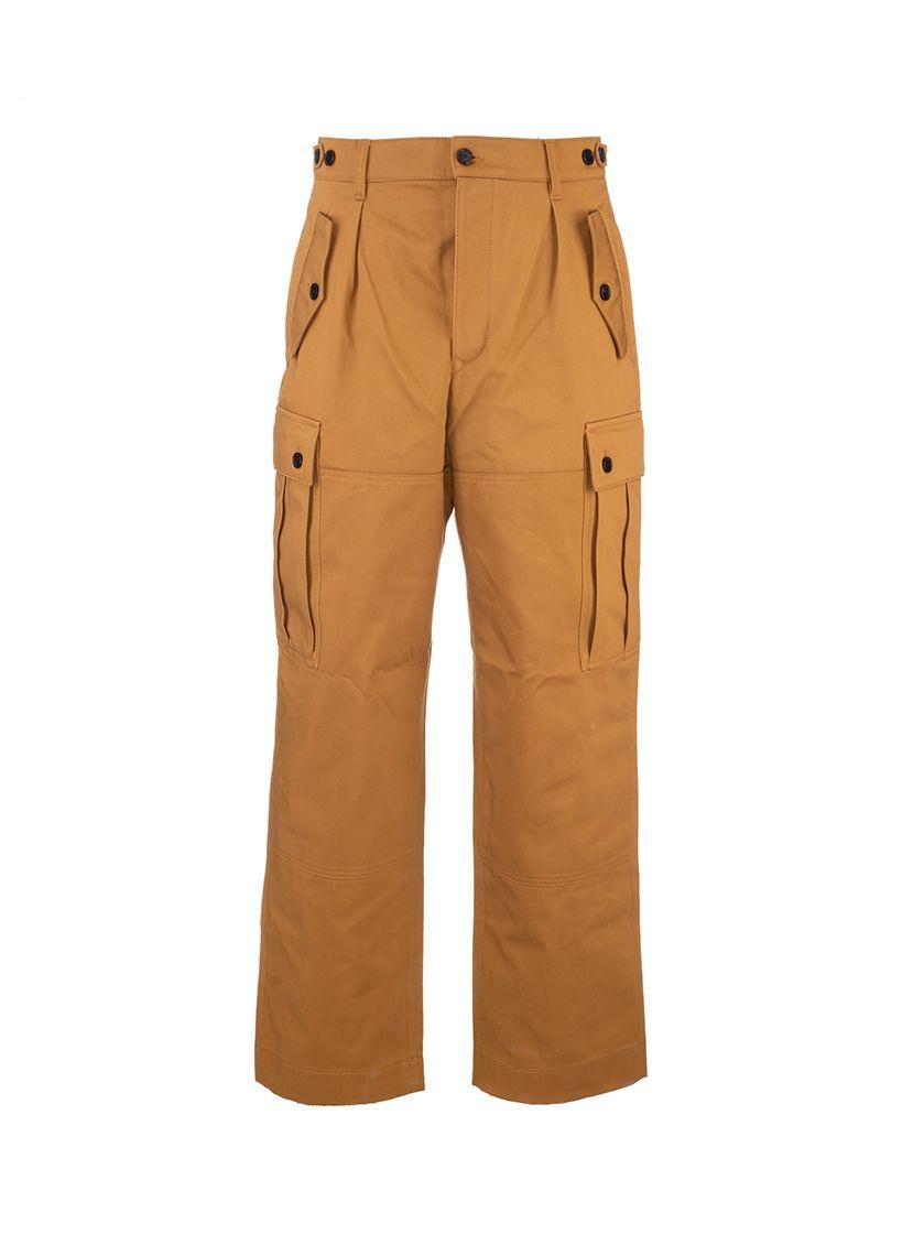 Loewe LOEWE MEN'S BROWN OTHER MATERIALS PANTS