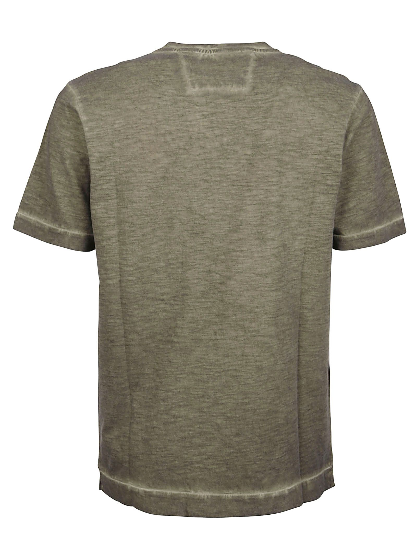 C.P. COMPANY Cottons CP COMPANY MEN'S GREEN OTHER MATERIALS T-SHIRT