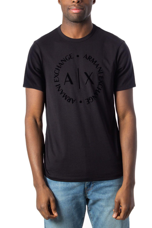 Armani Exchange ARMANI EXCHANGE MEN'S BLACK COTTON T-SHIRT