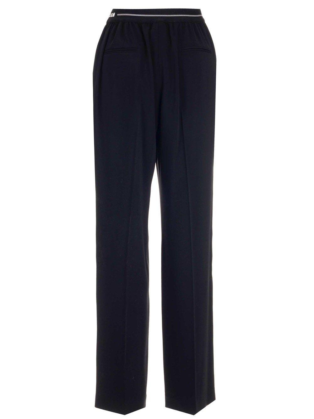 MSGM Pants MSGM WOMEN'S BLACK OTHER MATERIALS PANTS