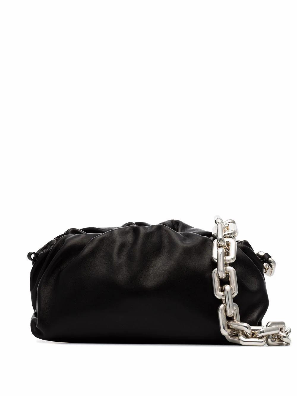 Bottega Veneta BOTTEGA VENETA WOMEN'S BLACK LEATHER SHOULDER BAG