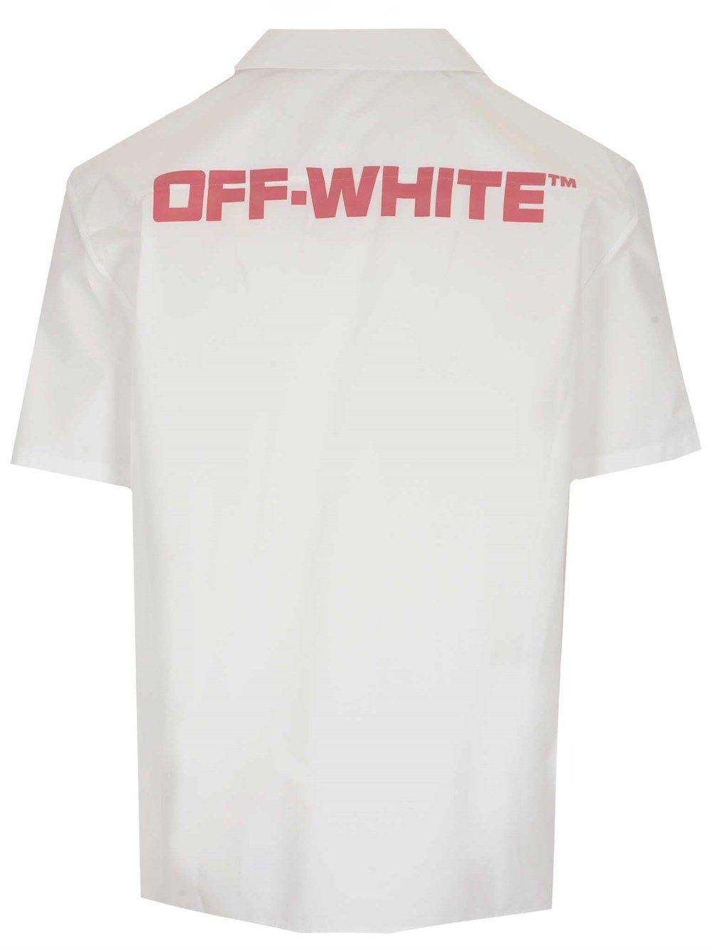 OFF-WHITE Cottons OFF-WHITE MEN'S WHITE COTTON SHIRT