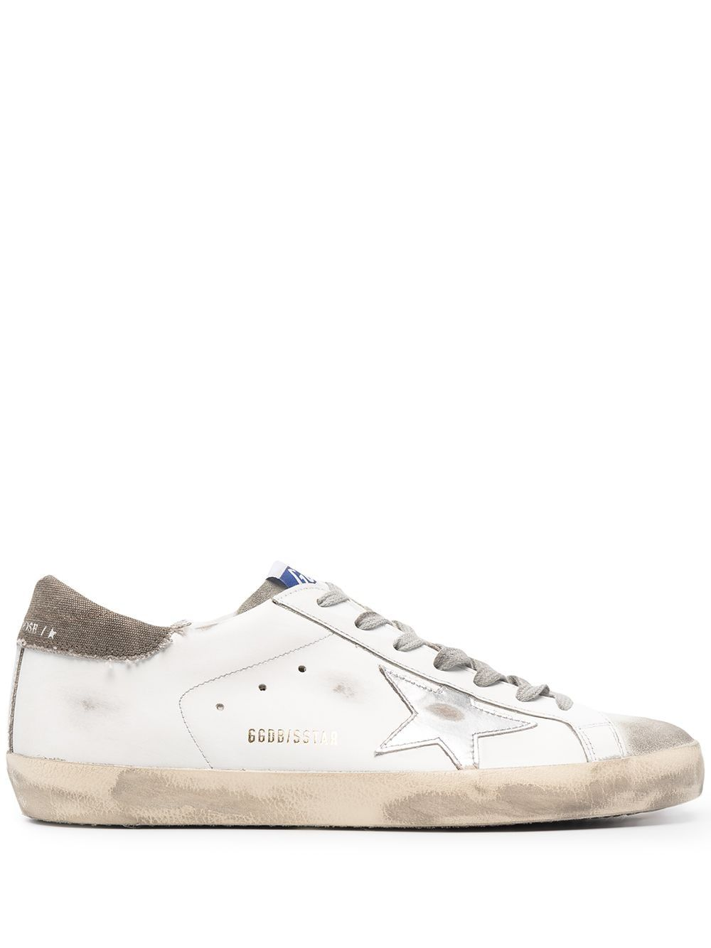 Golden Goose GOLDEN GOOSE MEN'S WHITE LEATHER SNEAKERS