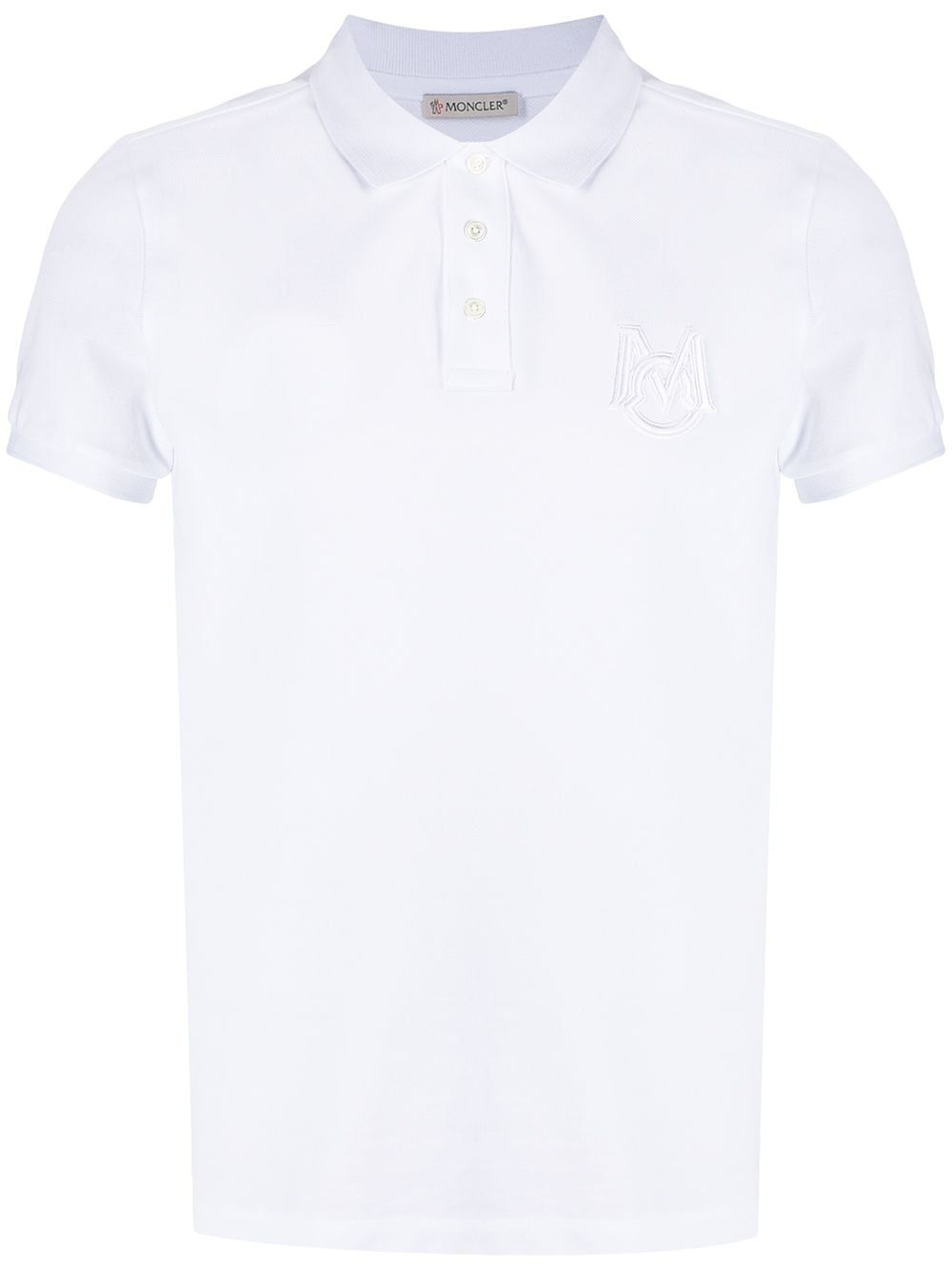 Moncler MONCLER MEN'S WHITE COTTON POLO SHIRT