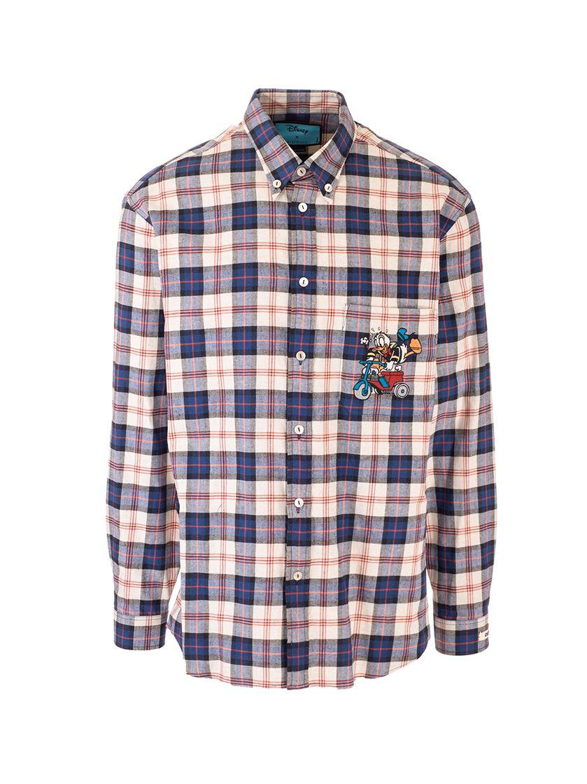 Gucci Shirts GUCCI MEN'S BEIGE OTHER MATERIALS SHIRT
