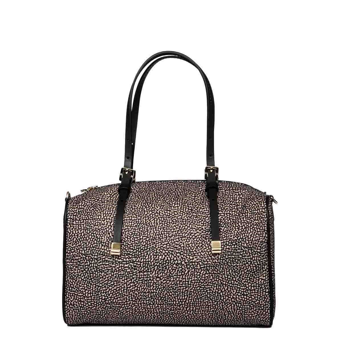 BORBONESE Handbags BORBONESE WOMEN'S BROWN POLYESTER HANDBAG