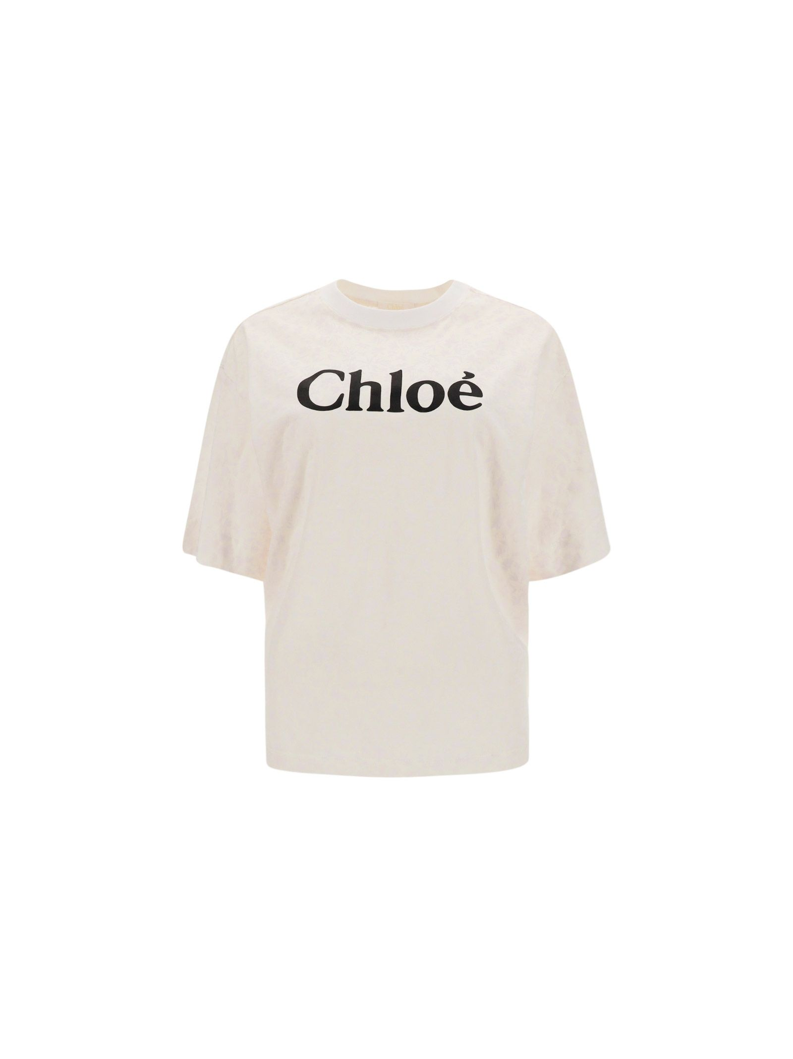Chloé CHLOÉ WOMEN'S WHITE COTTON T-SHIRT