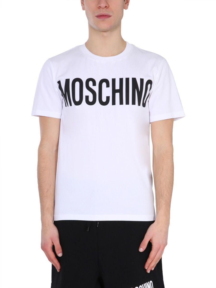 Moschino MOSCHINO MEN'S WHITE OTHER MATERIALS T-SHIRT