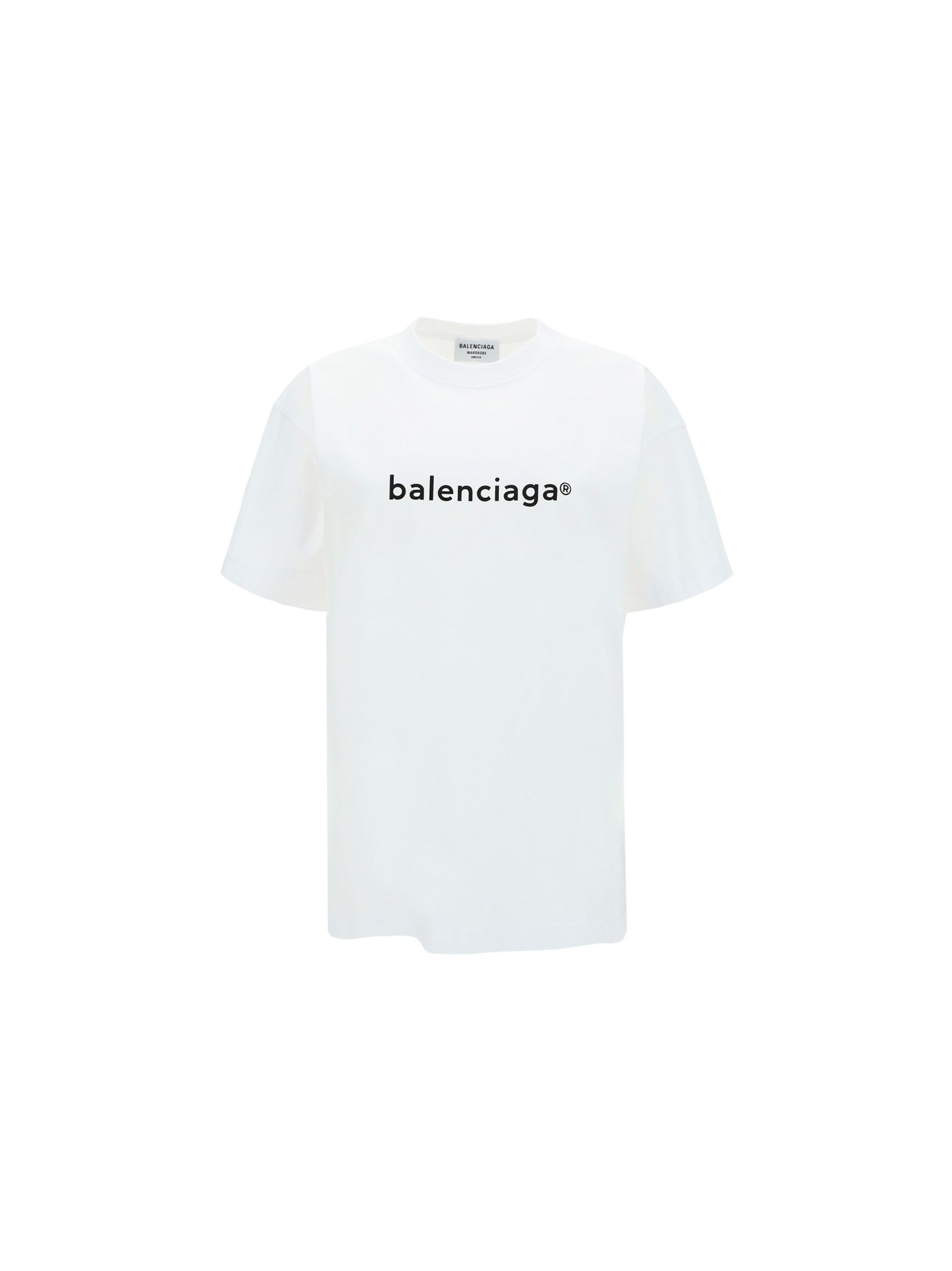 Balenciaga Cottons BALENCIAGA WOMEN'S WHITE OTHER MATERIALS T-SHIRT