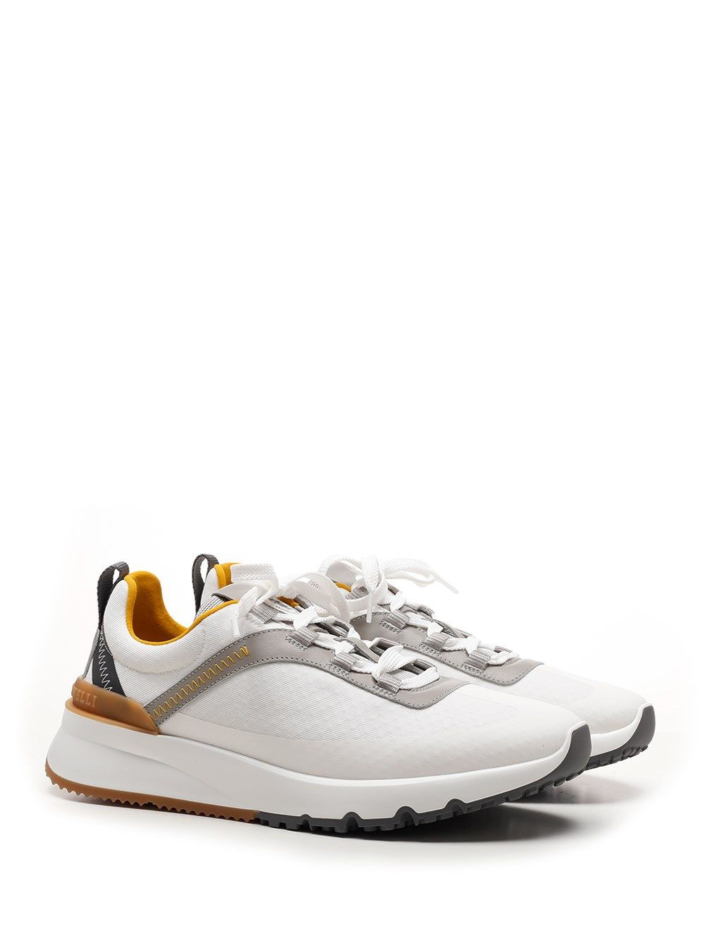 BRUNELLO CUCINELLI Activewears BRUNELLO CUCINELLI MEN'S WHITE OTHER MATERIALS SNEAKERS