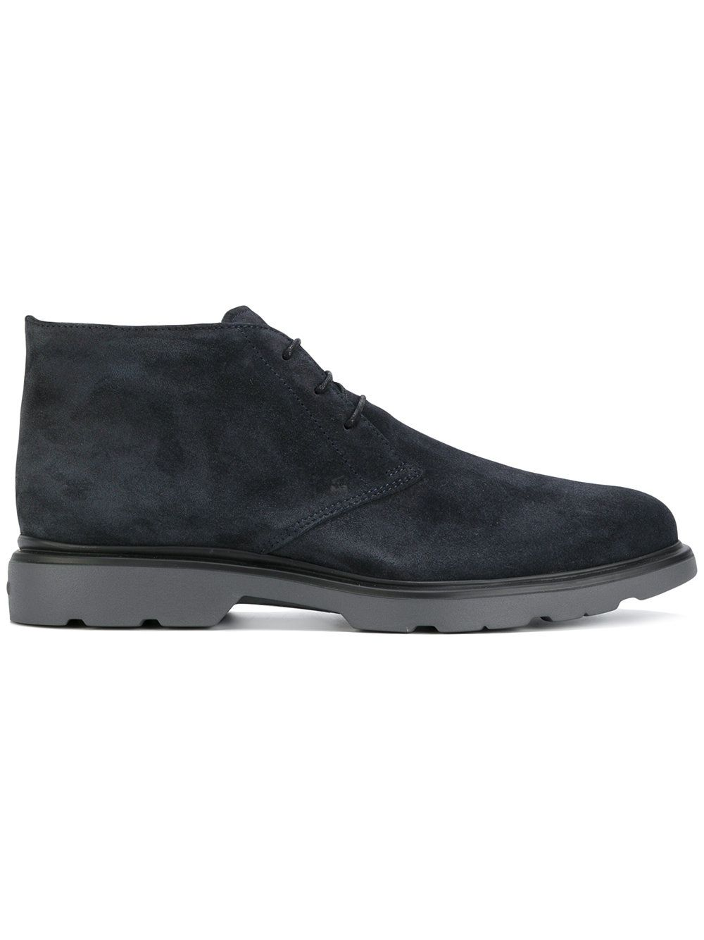 Hogan H304 New Route Ankle Boots In Blue