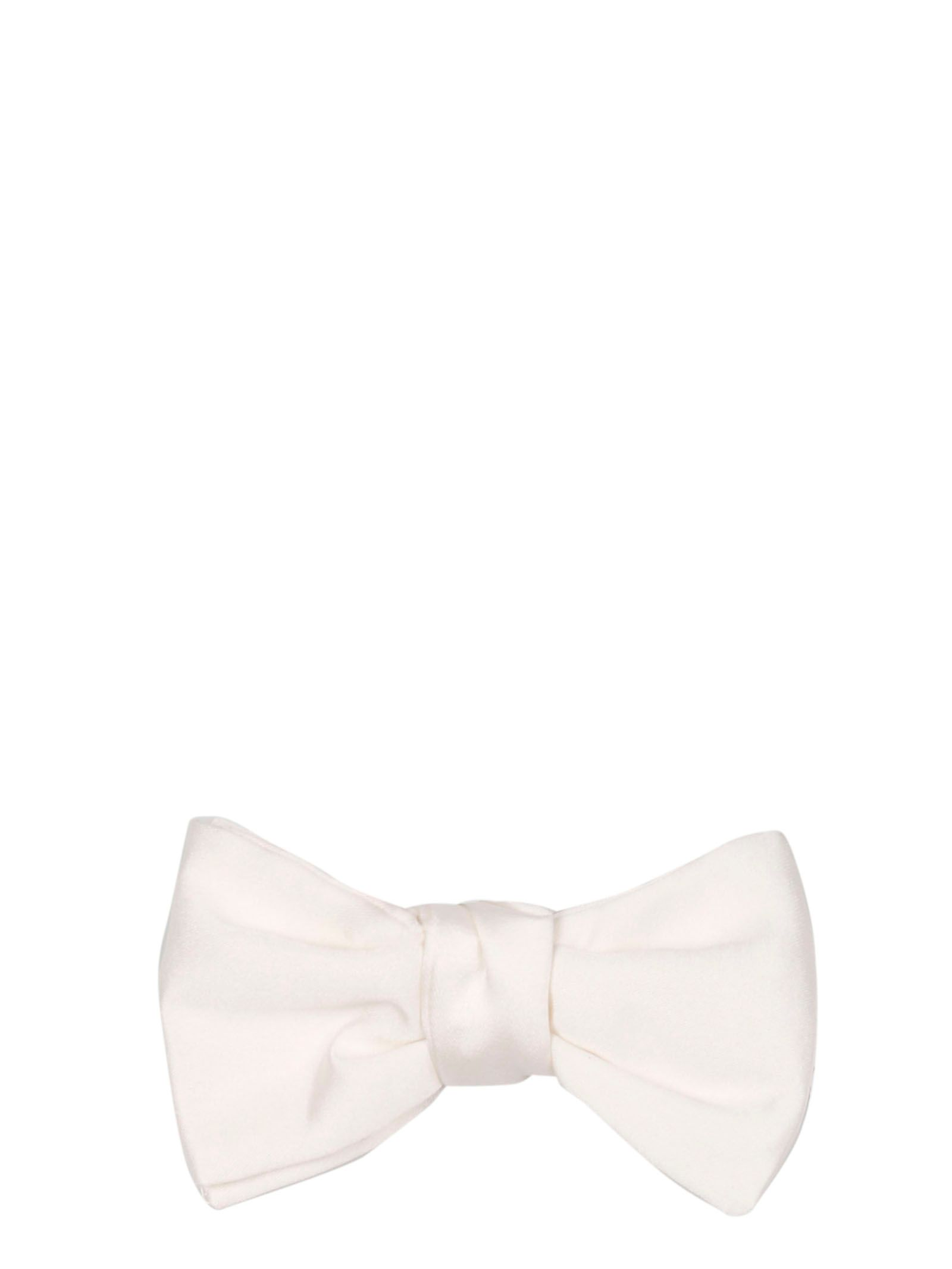 Givenchy White Silk Bow Tie